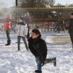 Sneeuw op het plein!